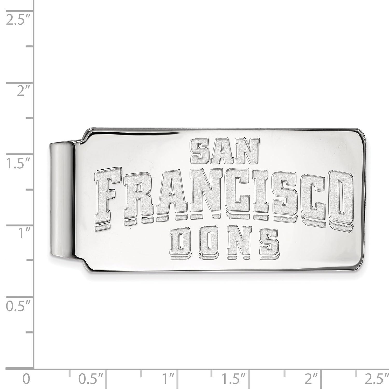 10k White Gold LogoArt Official Licensed Collegiate University of San Francisco Money Clip USF
