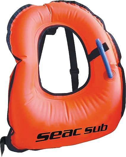 Seac 1520017 Chaleco Snorkeling, Unisex Adulto, Naranja, S/M ...
