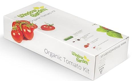 Window Garden Organic Tomato Grow Kit   Easy To Grow Vegetable Seed Kit,  Includes A