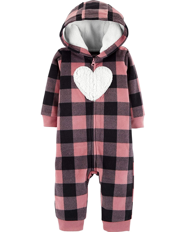 c866a2c23085 Amazon.com  Carter s Baby Girls  One Piece Fleece Jumpsuit Pink ...