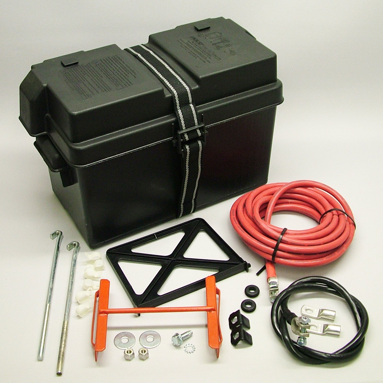Speed G1200A Battery Relocation Kit Trunk Mount Battery Kit w/Cables by Speed Unlimited