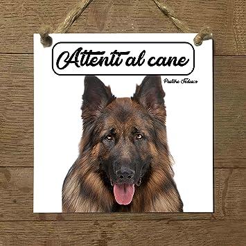 pastor Alemán Mod 4 cuidado con el Perro matrícula azulejo ...