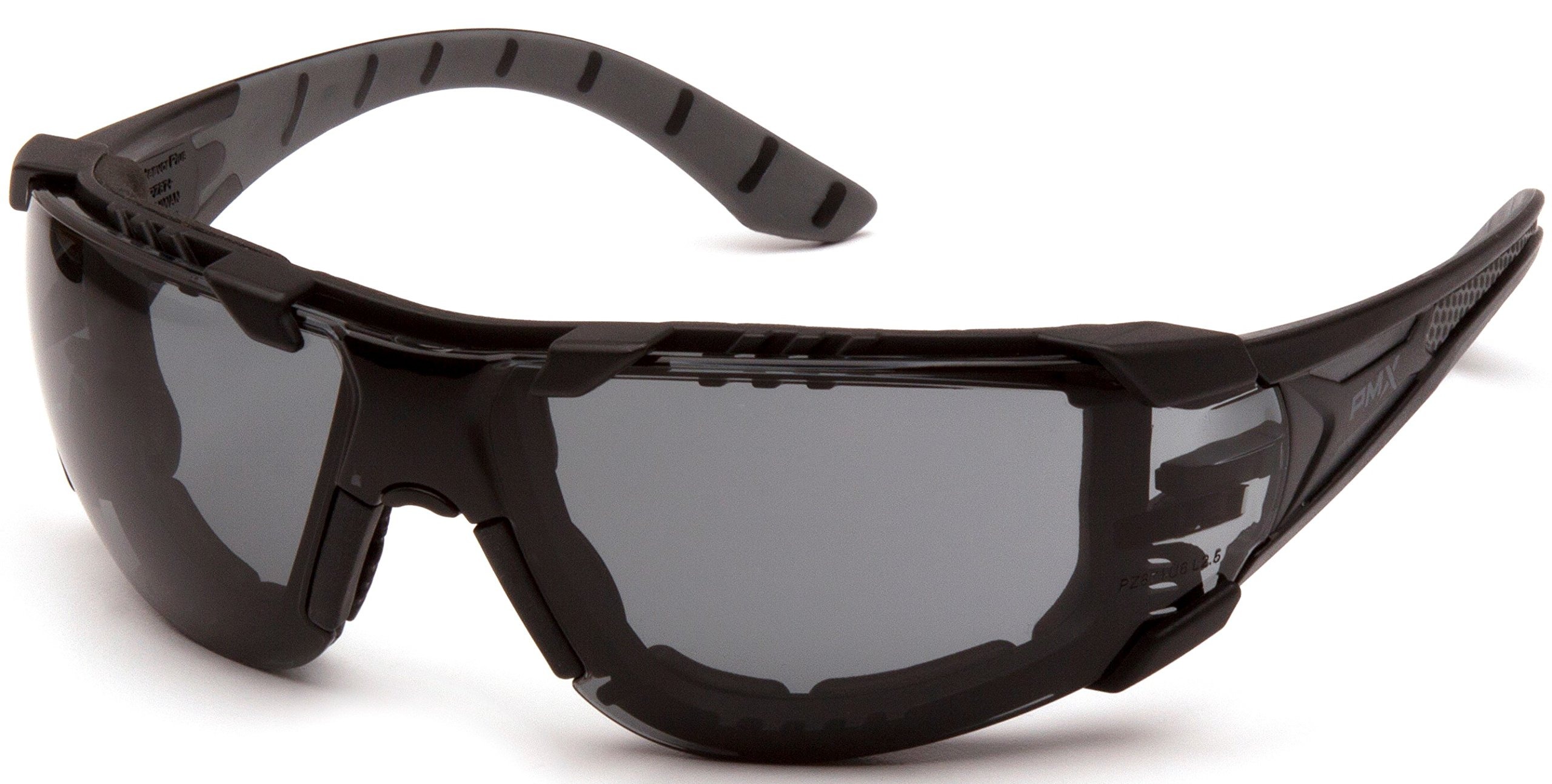 Pyramex Endeavor Plus Durable Safety Glasses, Black/Gray Foam Frame, Gray Anti-Fog Lens
