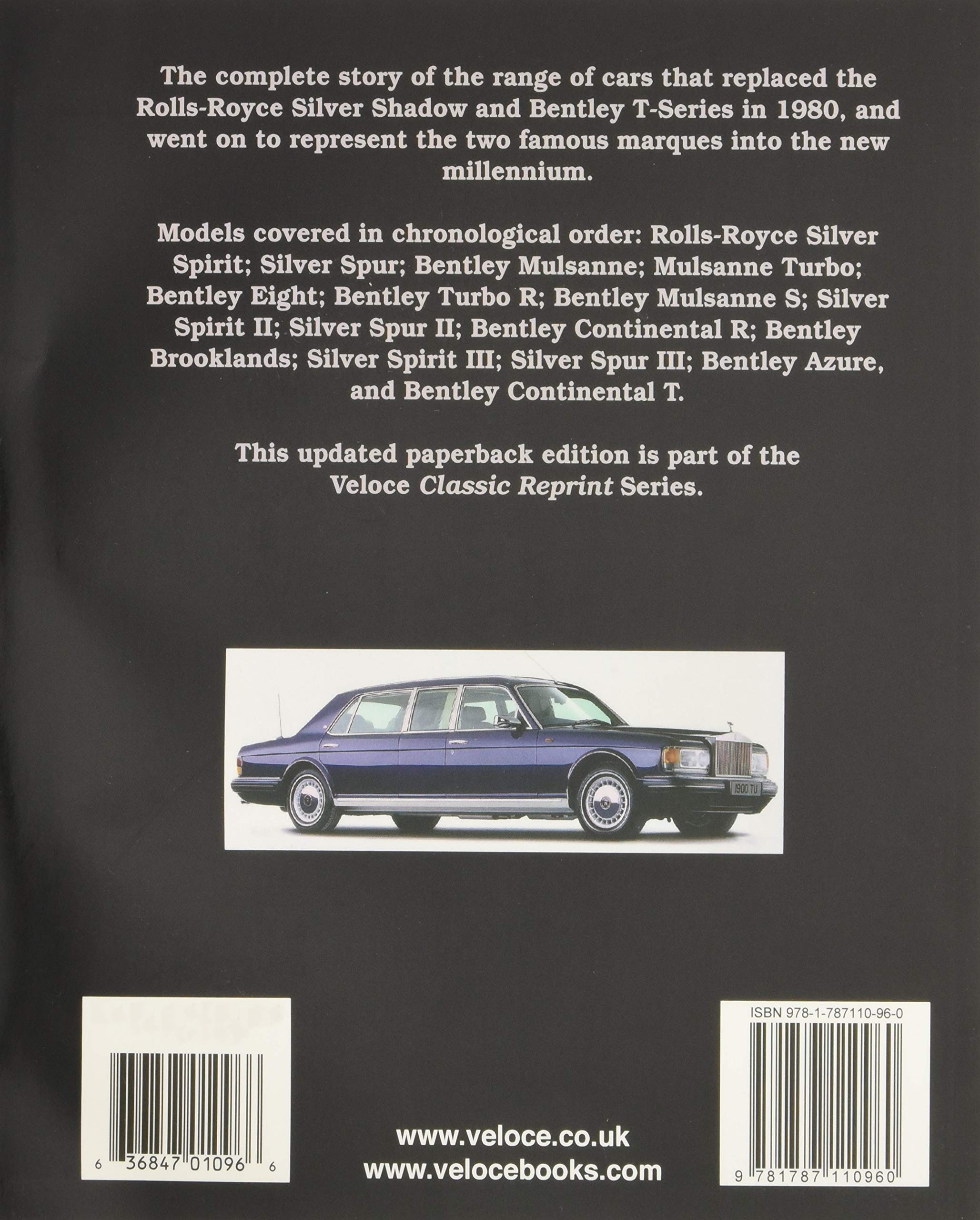 Rolls-Royce Silver Spirit & Silver Spur, Bentley Mulsanne, Eight, Continental, Brooklands & Azure Classic Reprint: Amazon.es: Malcolm Bobbitt: Libros en ...