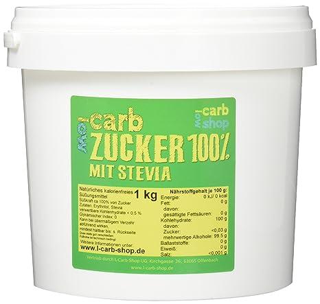 Carb Zucker 100% Erythritol + Stevia (1 kg): Amazon.de: Lebensmittel ...