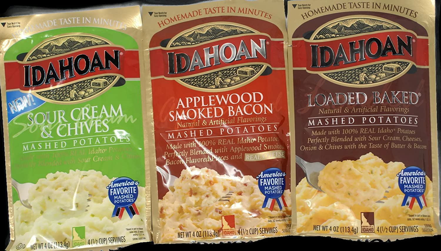 Variety Pack - Idahoan Packaged Mashed Potatoes (4 oz