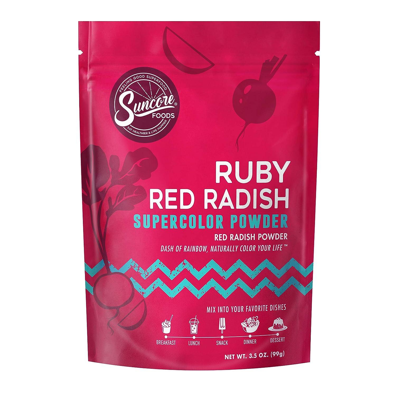 Suncore Foods – Premium Ruby Red Radish Supercolor Powder, 3.5oz – Natural Red Radish Food Coloring Powder, Plant Based, Vegan, Gluten Free, Non-GMO