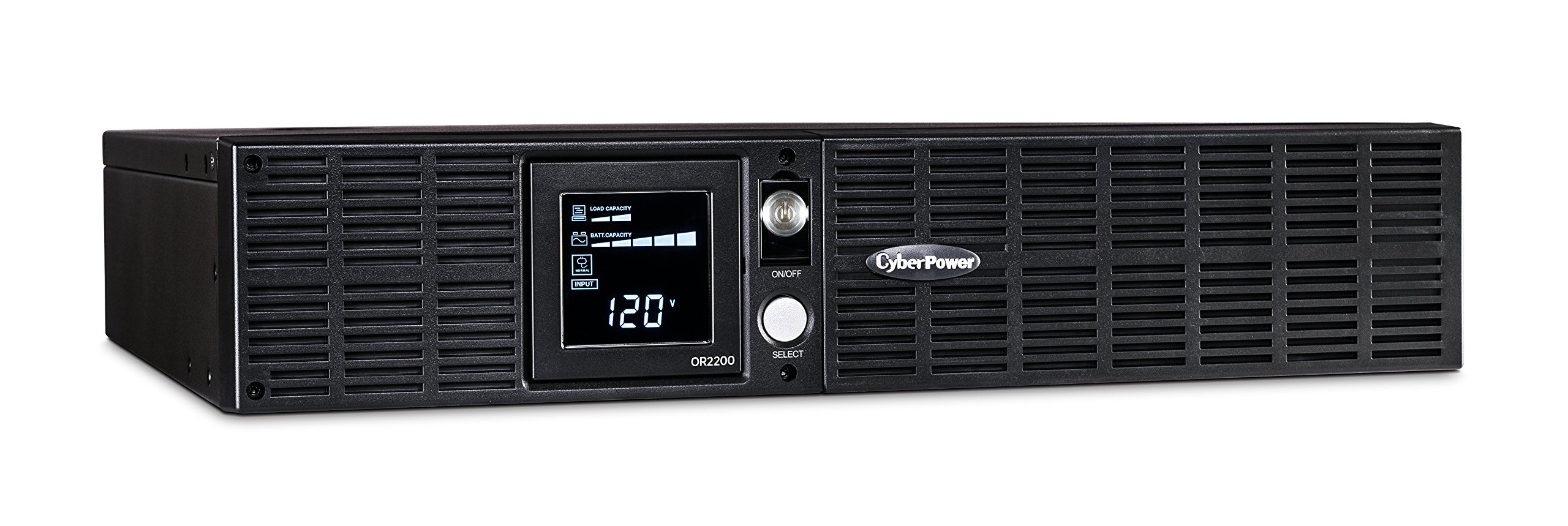 CyberPower OR2200LCDRT2U Smart App LCD UPS System, 2200VA/1320W, 8 Outlets, AVR, 2U Rack/Tower