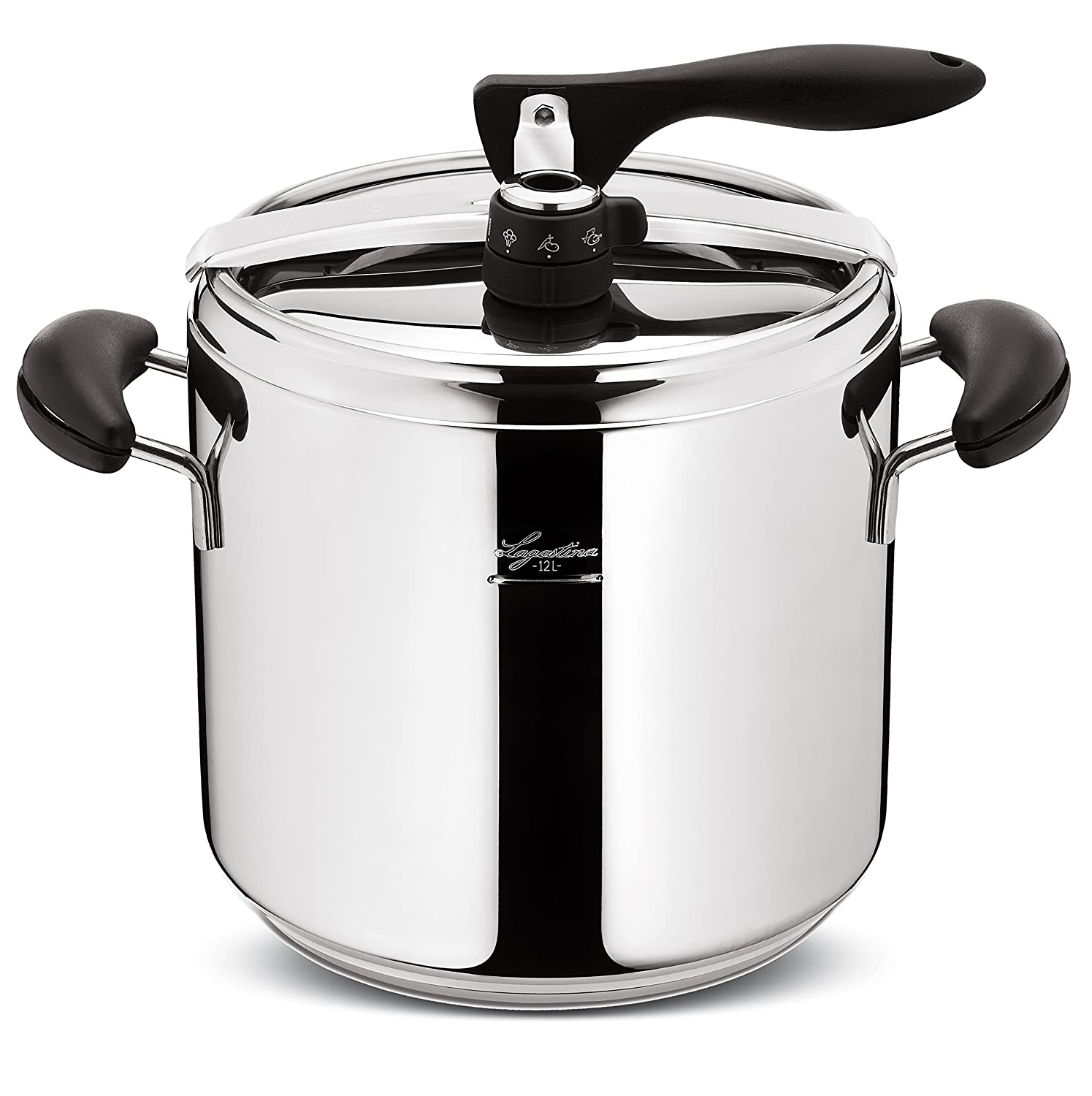 Lagostina Novia Vitamin D26 012012010112 Pressure Cooker for 7 to 10 People  Stainless Steel 12 L: Amazon.co.uk: Kitchen & Home