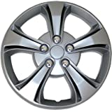 TuningPros WSC-616S15 Hubcaps Wheel Skin Cover 15-Inches Silver Set of 4
