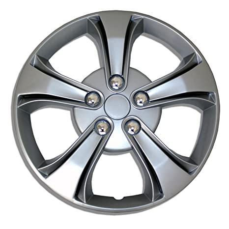 Amazon.com: TuningPros WSC-616S15 Hubcaps Wheel Skin Cover 15-Inches Silver Set of 4: Automotive