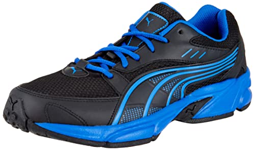 715904c7a49c81 Image Unavailable. Image not available for. Colour  Puma Men s Pluto DP  Black-Snorkel Blue-Snorkblue Running Shoes - 7 UK