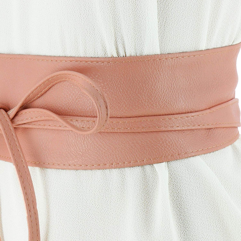 MICA large leatherette obi belt FASHIONGEN