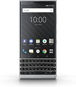 BlackBerry KEY2 64GB (Single-SIM, BBF100-1, QWERTY Keypad) (GSM Only, No CDMA) Factory Unlocked SIM-Free 4G/LTE Smartphone - International Version (Silver) - No warranty in the USA