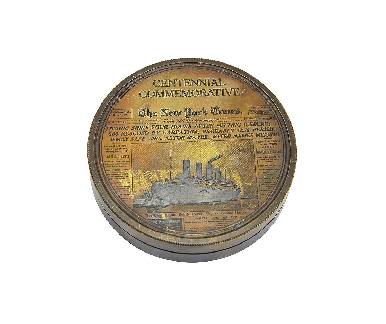 3」真鍮Centennial記念日時計コンパス/ポケットコンパス B072QBX3BW