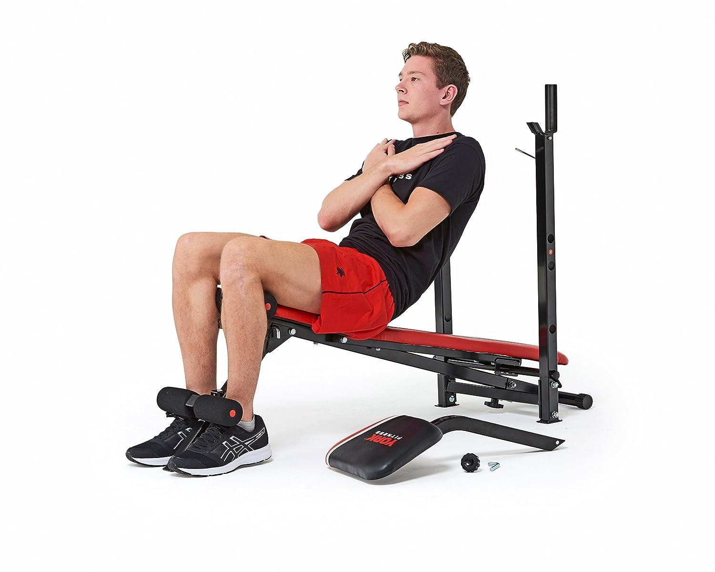 York Fitness Banco de musculación Warrior 2 en 1, con pupitre de bíceps y Banco de Abdominales: Amazon.es: Deportes y aire libre