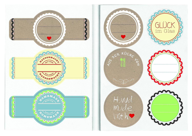 moses 80215 Küchenwunder Küchen-Etiketten Glück im Glas: Amazon.de ...