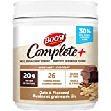 BOOST Complete+ Chocolate Oats & Flaxseed Meal Replacement Powder, 486 grams
