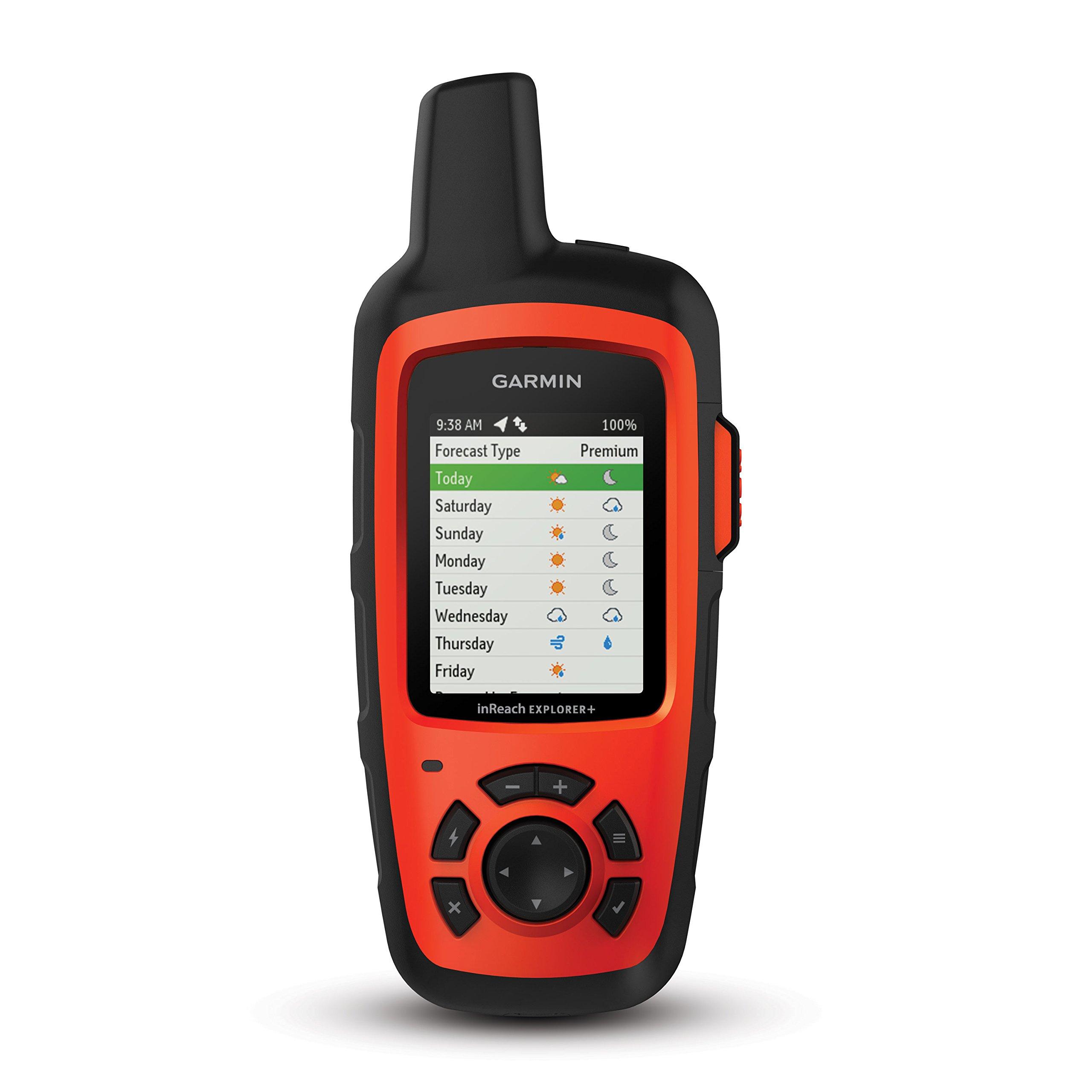 Garmin inReach Explorer+, Handheld Satellite Communicator with TOPO Maps and GPS Navigation by Garmin