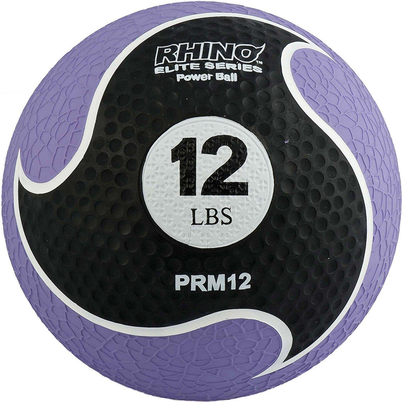 Champion Sports Rhino Elite Medicine Ball (12 pounds), Purple