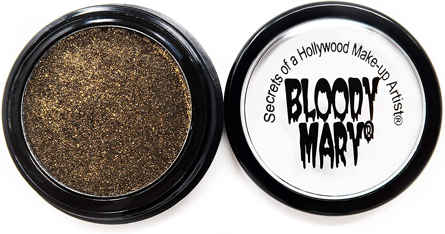 Bloody Mary Eye Shadow, Black Sparkle Gold