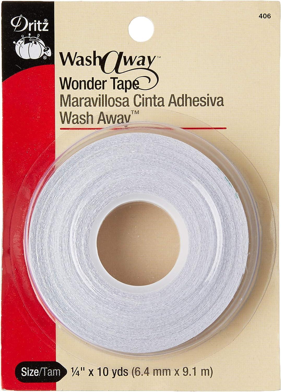Dritz 406 Wash Away Wonder Tape 1//4-Inch x 10-Yards