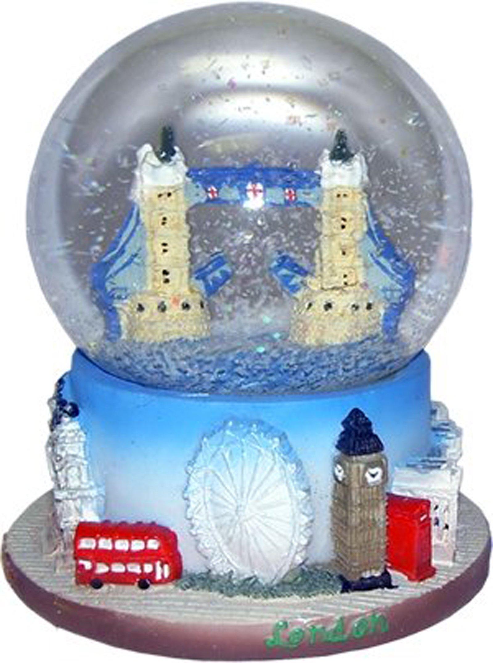 Snow Globe (Small)- Tower Bridge, Detailing Famous London Landmark Tower Bridge.