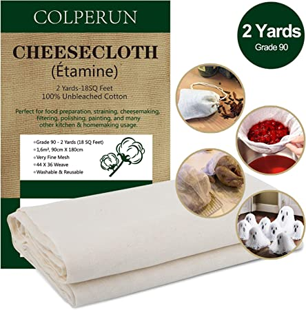 Algodón 100% Sin Blanquear - La tela colador Colperun está hecha de algodón 100% natural de calidad