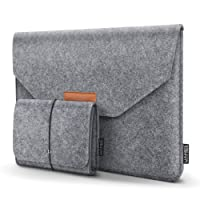 "HOMIEE 13-13,3 Pouces Housse pour Ordinateur Portable Apple New MacBook Pro, MacBook Pro Retina, MacBook Air, 12.9"" iPad Pro, Dell XPS, Lenovo/HP/Chormebook, Gris Clair"