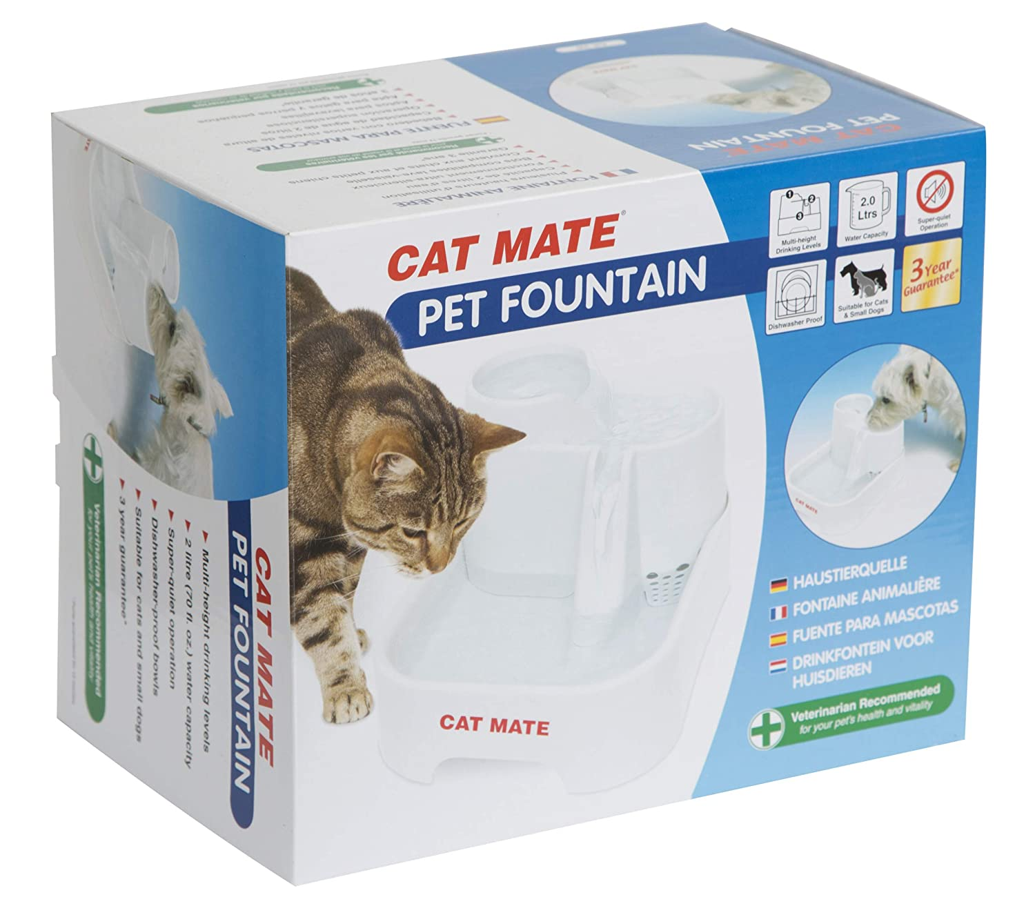 Pet Supplies Cat Supplies Distributore Fontana Fontanella Cat Mate Abbeveratoio Cani E Gatti