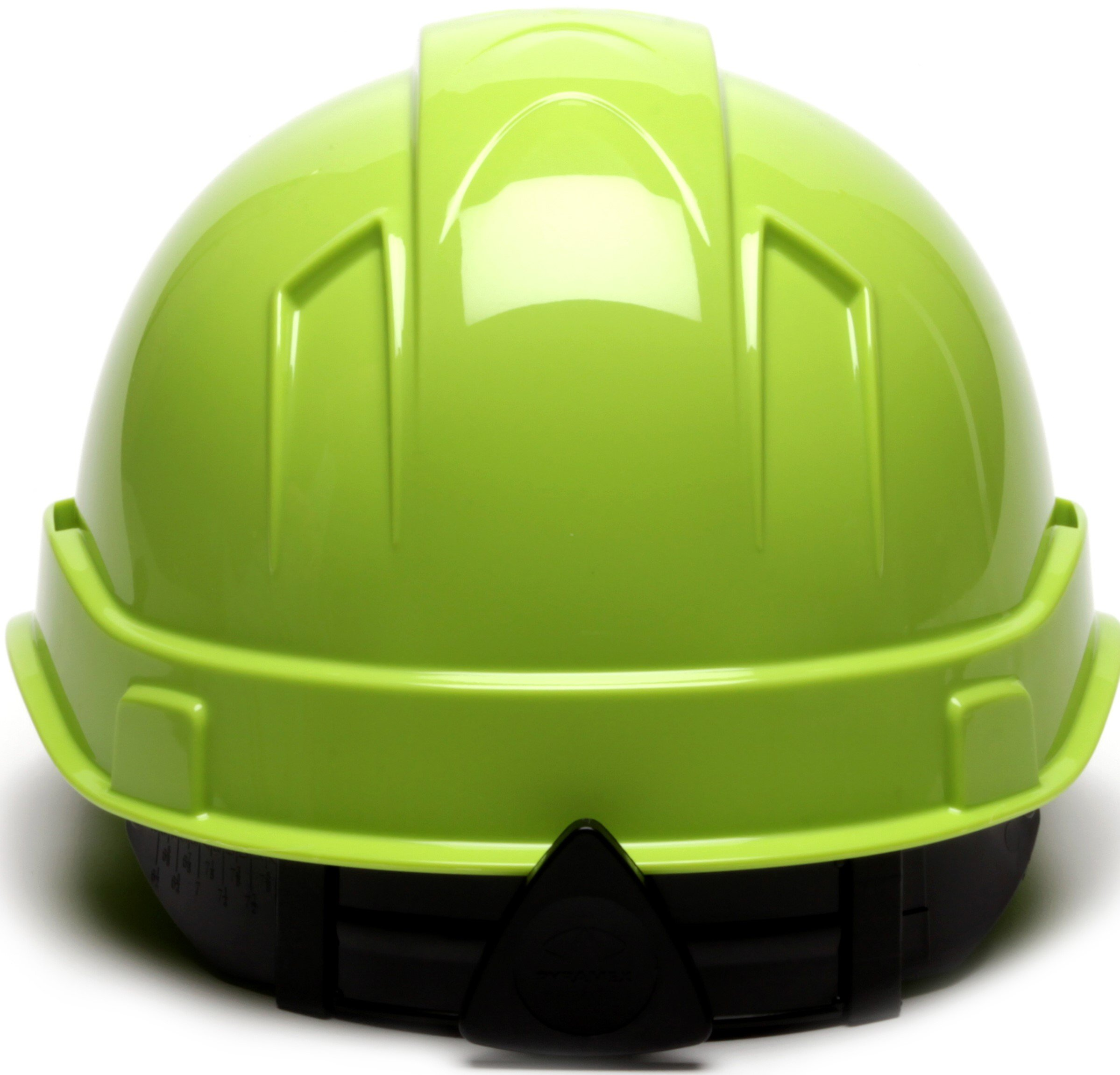 Pyramex Ridgeline Cap Style Hard Hat, 6 Point Ratchet Suspension, Hi Vis Lime by Pyramex Safety (Image #4)