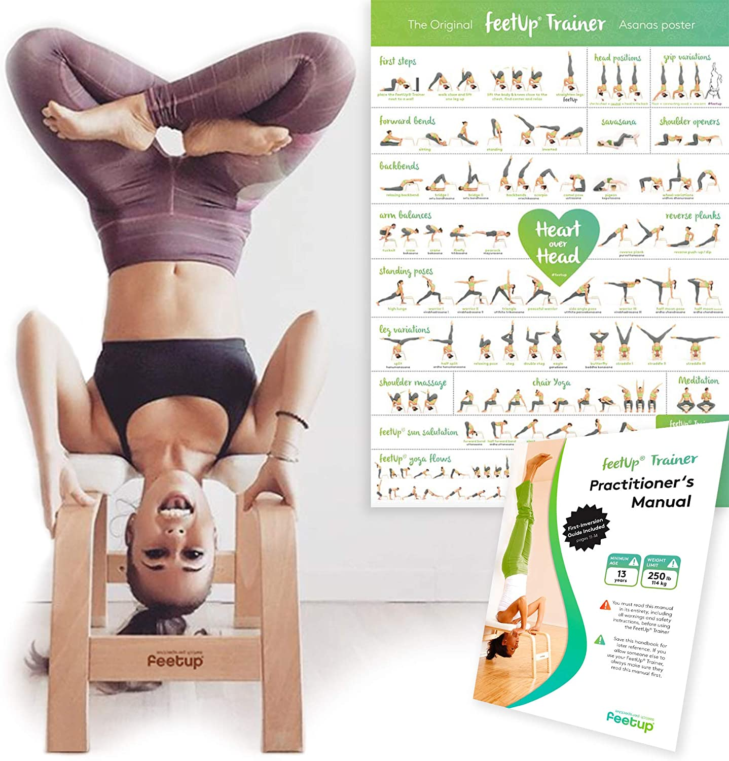 The Original Turn Your Yoga Upside Down! Get Fit - Invert Safely /& Easily Relax FeetUp/Trainer
