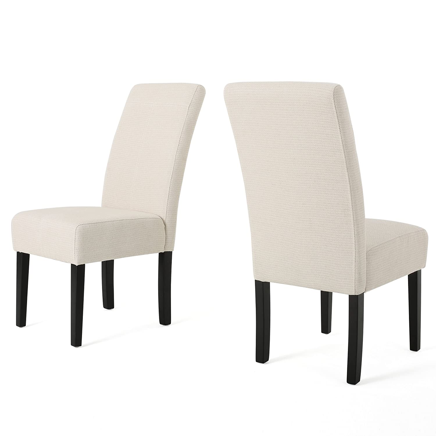 Amazon Percival Beige Fabric Dining Chair Chairs