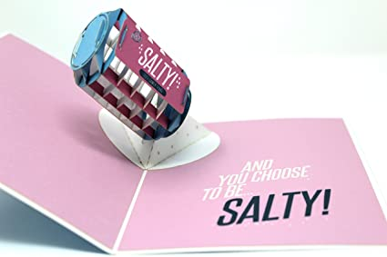 Salty Gamer Greeting Card For Gamers