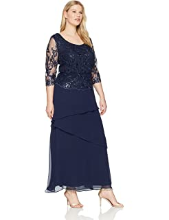 Le Bos Women\'s Size Embroidered Dress Plus at Amazon Women\'s ...