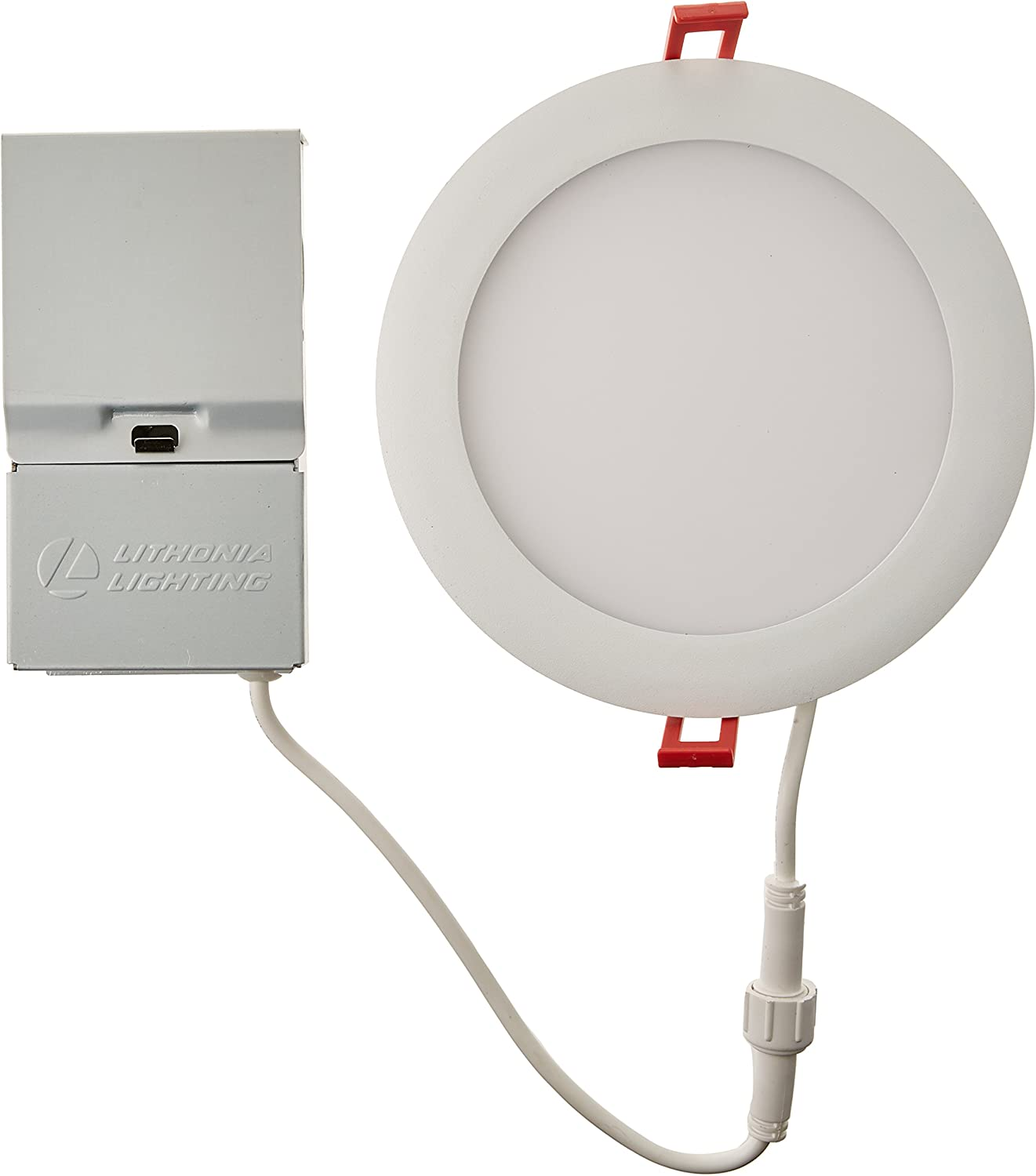 Lithonia Lighting WF6 LL LED 40K MW M6 Ultra-Thin Dimmable LED Recessed Ceiling Light, 4000K | Cool White, Matte White