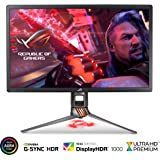 "ASUS ROG Swift PG27UQ 27"" 4K UHD 144Hz DP HDMI G-SYNC HDR Aura Sync Gaming Monitor with Eye Care (Certified Refurbished)"
