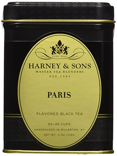 Harney & Sons Flavored Black Tea, Paris, 4 Ounce