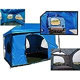 La tienda de campaña original para 6 personas para cabina, 2 puertas grandes (Premium tiene 4) rápida y fácil instalación, se