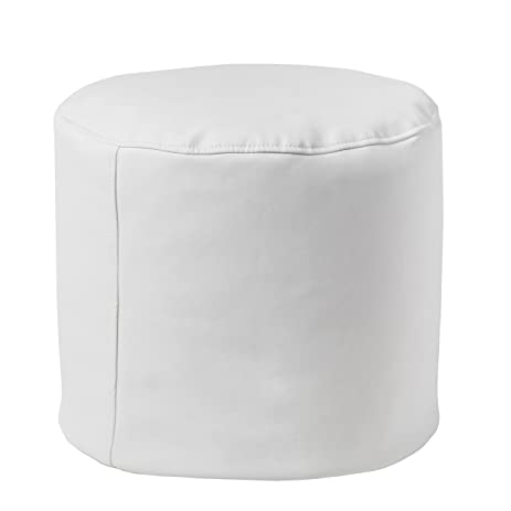 Small Round Ottoman Pouf Foot Stool Portable White Footstool Perfect For Adults Kids  sc 1 st  Amazon.com & Amazon.com: Small Round Ottoman Pouf Foot Stool Portable White ... islam-shia.org