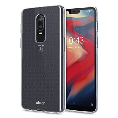 size 40 70bcc 6a2f4 OnePlus 6 Clear Case - Slim Silicone Gel - Ultra Thin Transparent Cover -  100% Crystal Clear - Flexible Protection - Non Slip - Clear