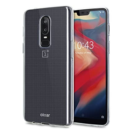 the latest 5572b e8570 Amazon.com: OnePlus 6 Clear Case - Slim Gel Silicone - Ultra Thin ...