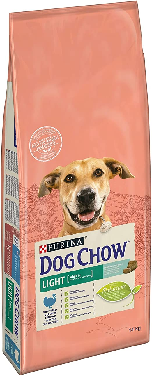 Oferta amazon: Purina Dog Chow Light pienso para Perro Adulto Pavo 14 Kg