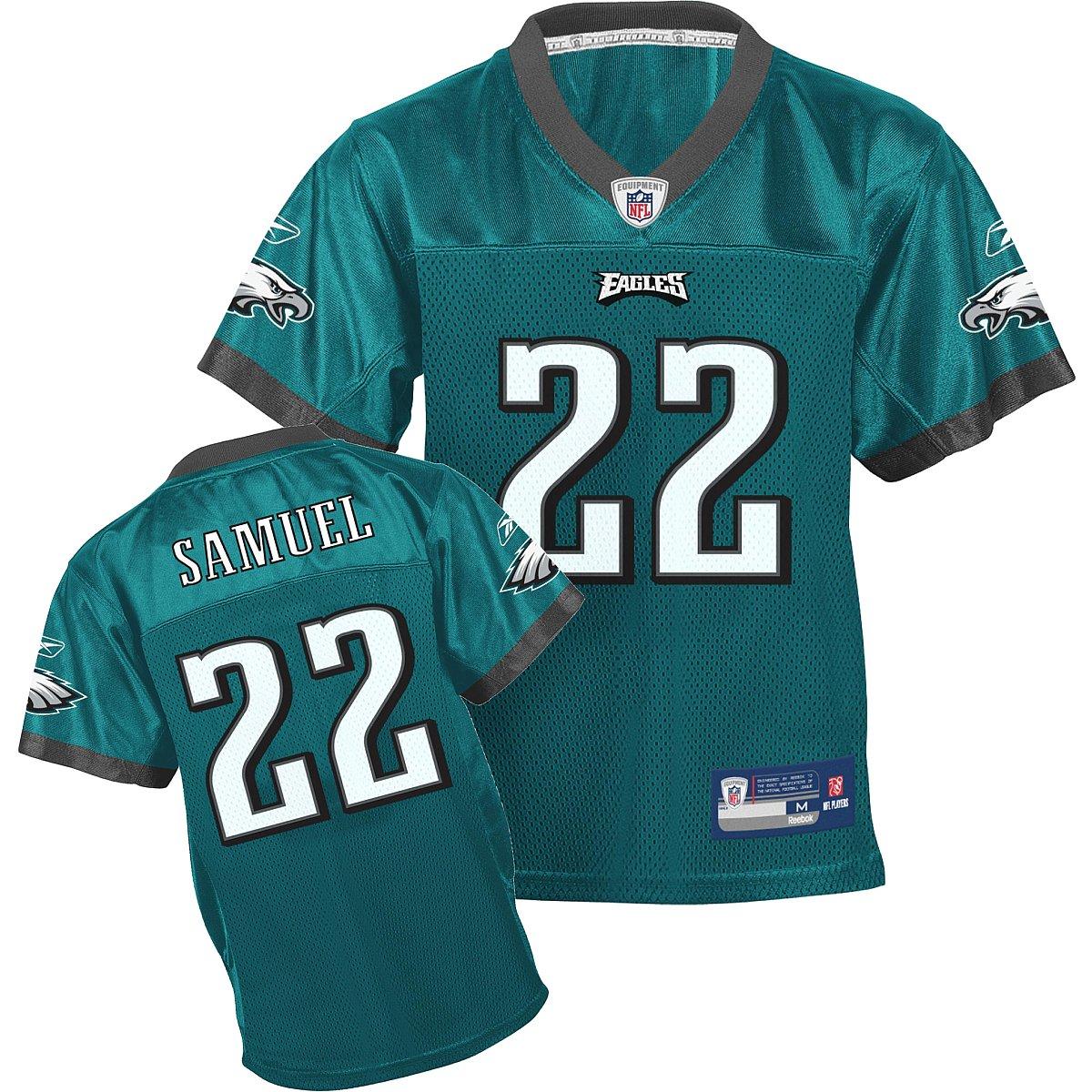 online store cbe5d a595d Amazon.com : Reebok Philadelphia Eagles Asante Samuel Boys ...