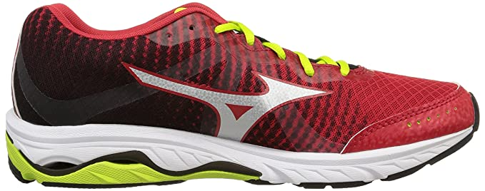 Amazon.com: Mizuno Scarpa Running Sneaker Uomo Wave Elevation Rosso Nero Giallo: Sports & Outdoors