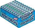 Mentos Mint Dragees | Geschmack Pfefferminze natürlich | Karton mit 40 Rollen Bonbons | Multipack für frischen Atem