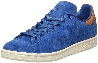 adidas Stan Smith, Baskets Basses Homme, Bleu Core Blue/Off White, 40