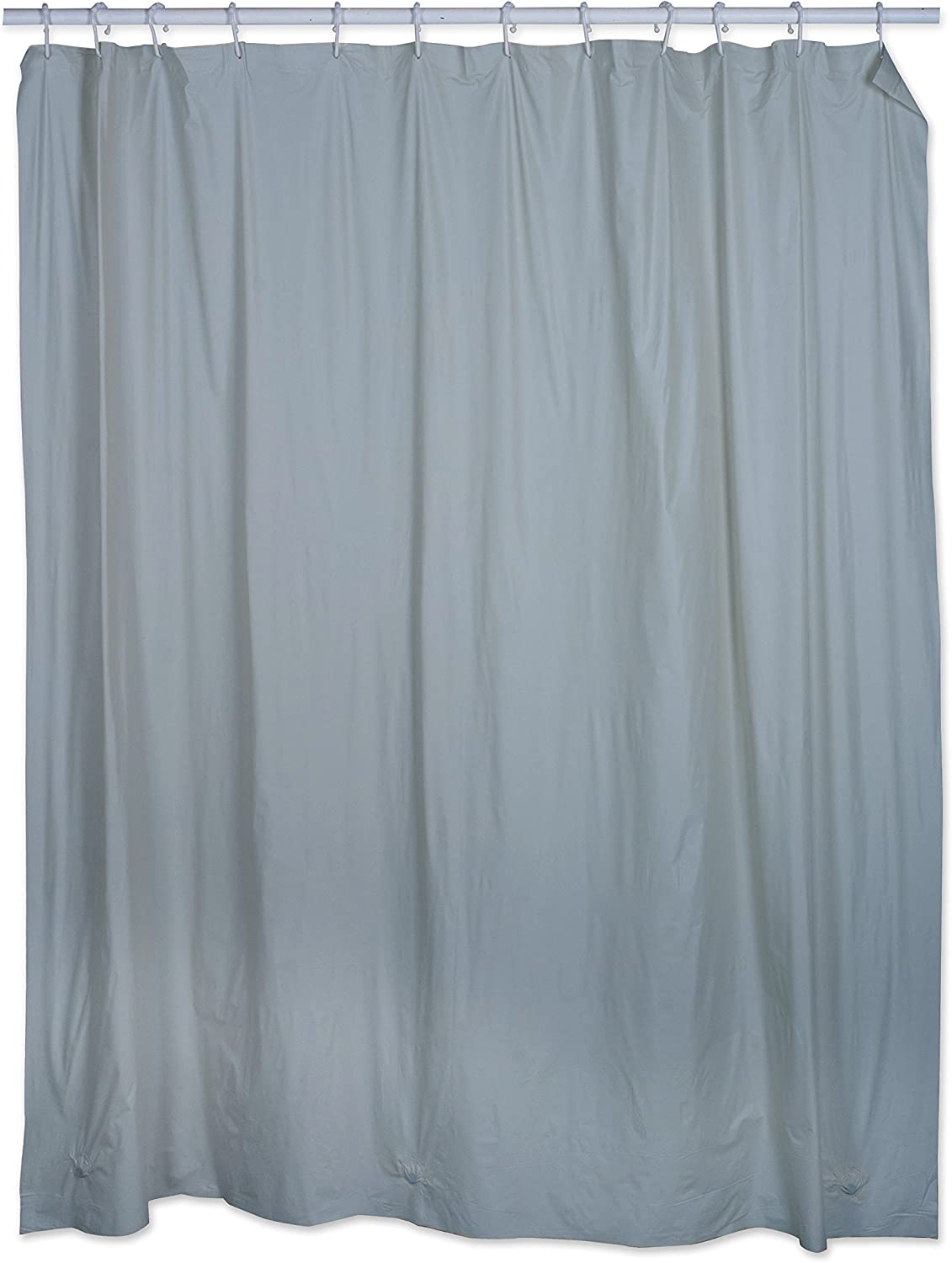J & M Home Fashions Antibacterial & Mold Resistant Shower Curtain, Liner, Blue