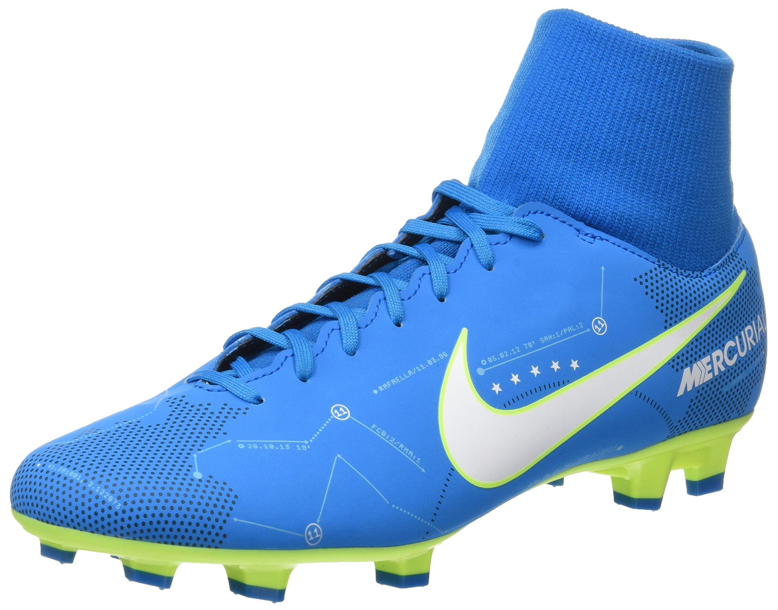 Nike Mercurial Victory VI DF Njr FG Mens Football Boots 921506 Soccer Cleats (UK 9.5 US 10.5 EU 44.5, Blue Orbit White 400)