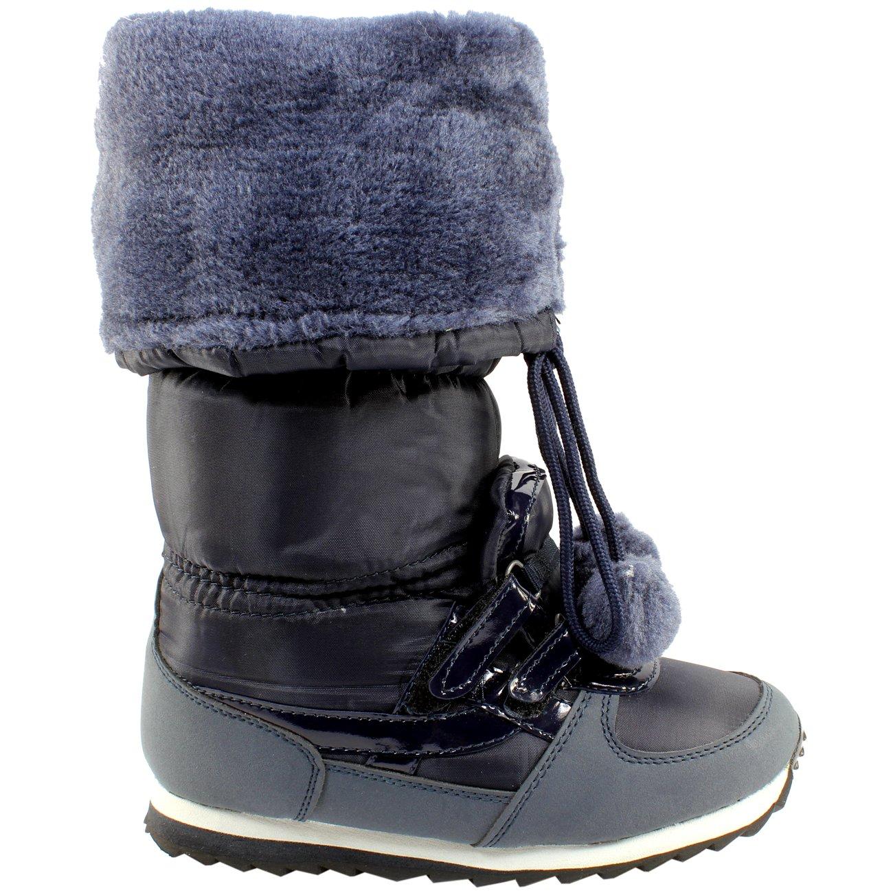 Ela Damen Fellstiefel Wasserdichte Schnee Bobble Stiefel Stiefel